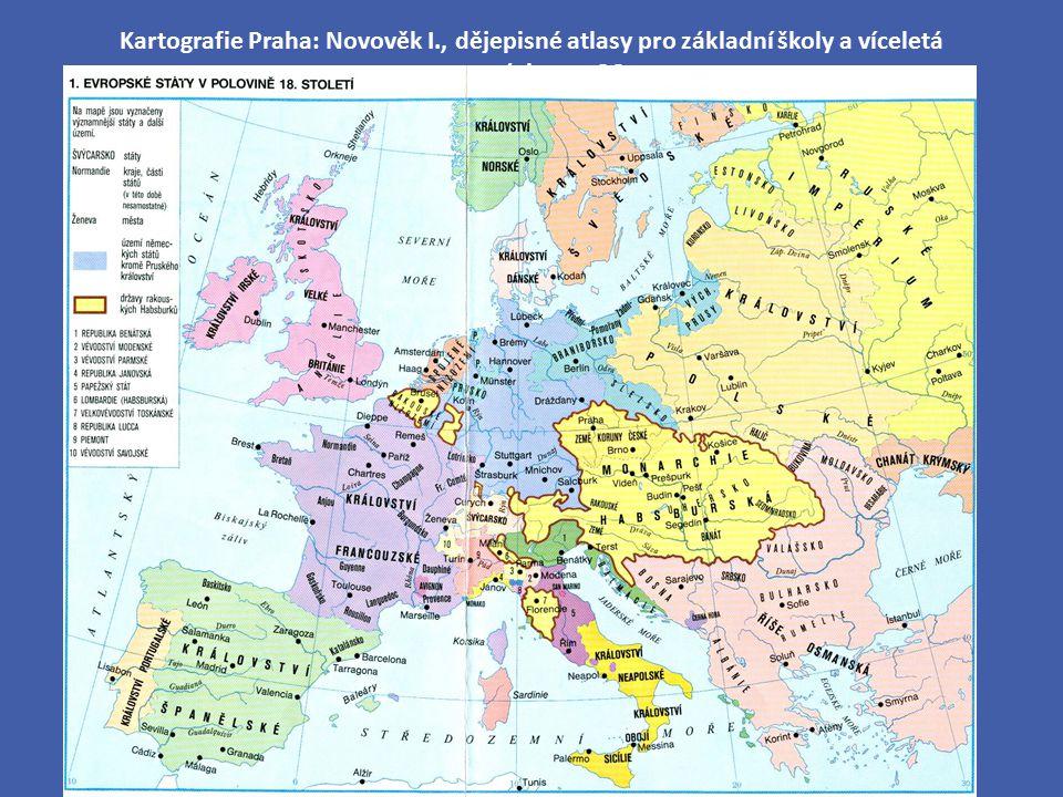 Kartografie Praha: Novověk I., dějepisné atlasy pro základní školy a víceletá gymnázia, str. 36