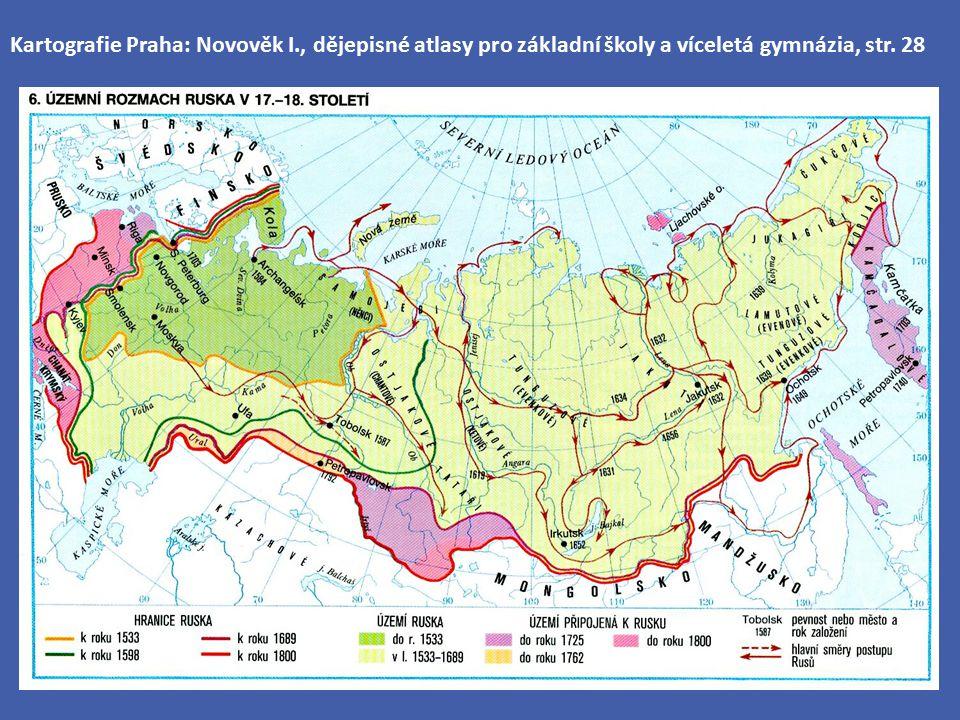 Kartografie Praha: Novověk I., dějepisné atlasy pro základní školy a víceletá gymnázia, str. 28