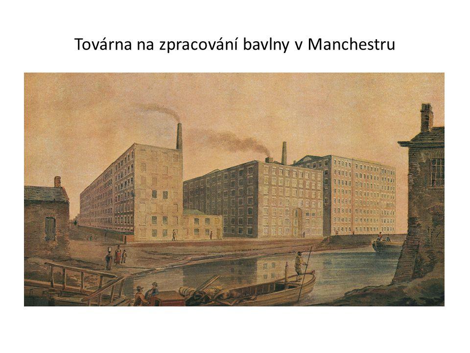 Továrna na zpracování bavlny v Manchestru