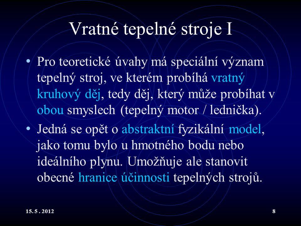 15.5. 201219 2. věta termodynamická II R.