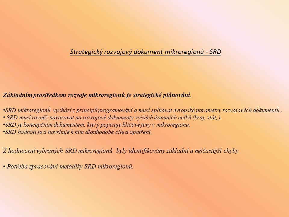 Metodická příručka pro zpracování strategických rozvojových dokumentů mikroregionů Ministerstvo pro místní rozvoj Ústav územního rozvoje Brno, duben 2009