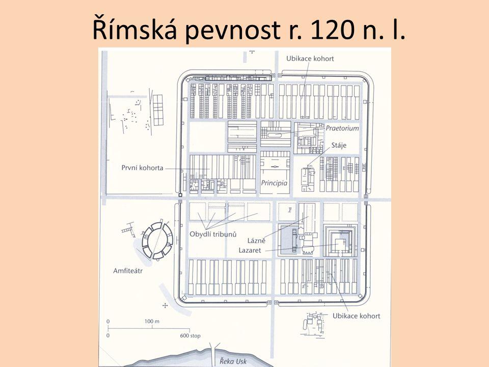 Římská pevnost r. 120 n. l.