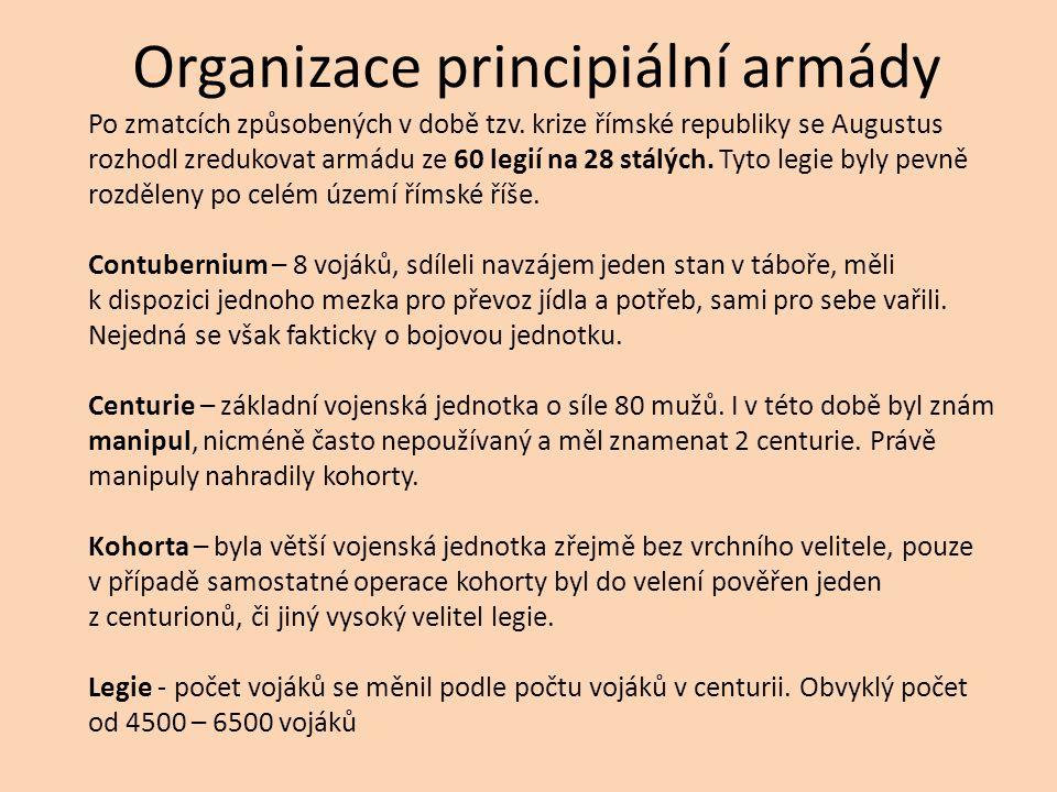 Organizace principiální armády Po zmatcích způsobených v době tzv.