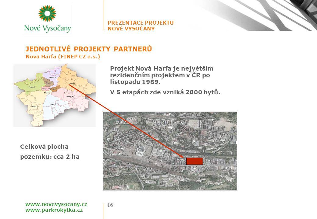 PREZENTACE PROJEKTU NOVÉ VYSOČANY 16 www.novevysocany.cz www.parkrokytka.cz Nová Harfa (FINEP CZ a.s.) JEDNOTLIVÉ PROJEKTY PARTNERŮ Projekt Nová Harfa