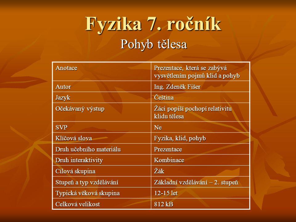 Fyzika 7.