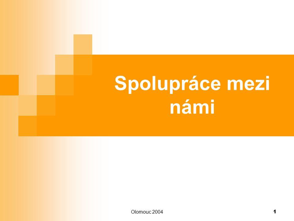 Olomouc 2004 1 Spolupráce mezi námi