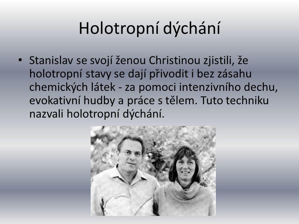Holotropní dýchání Stanislav se svojí ženou Christinou zjistili, že holotropní stavy se dají přivodit i bez zásahu chemických látek - za pomoci inten