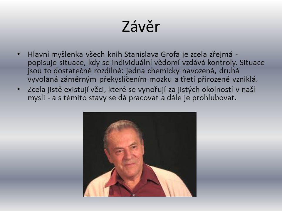 Knihy Od poloviny 70.let publikoval Prof. MUDr. Grof mnoho knih s psychologickou tématikou.
