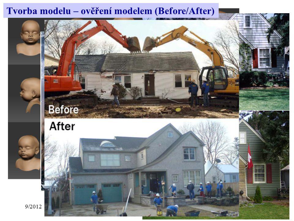 9/2012Přednáška č. 113 Tvorba modelu – ověření modelem (Before/After)