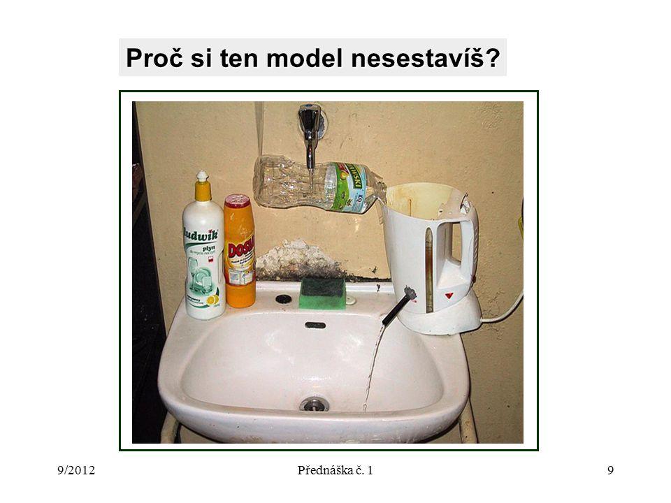 9/2012Přednáška č. 19 Proč si ten model nesestavíš