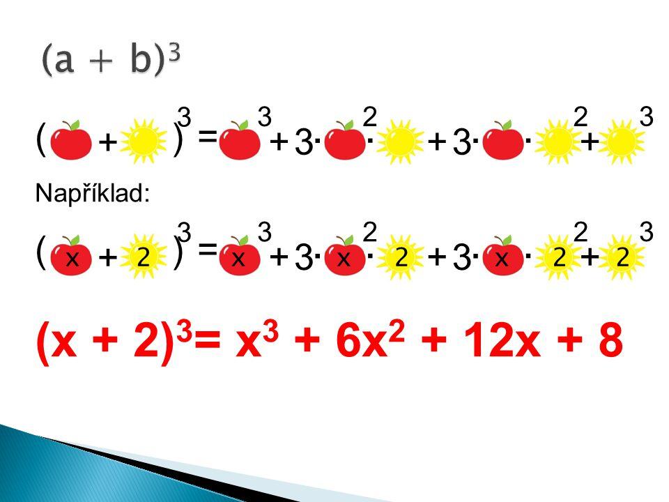 ( ) = Například: ( ) = (x + 2) 3 = x 3 + 6x 2 + 12x + 8 3 3 - -..