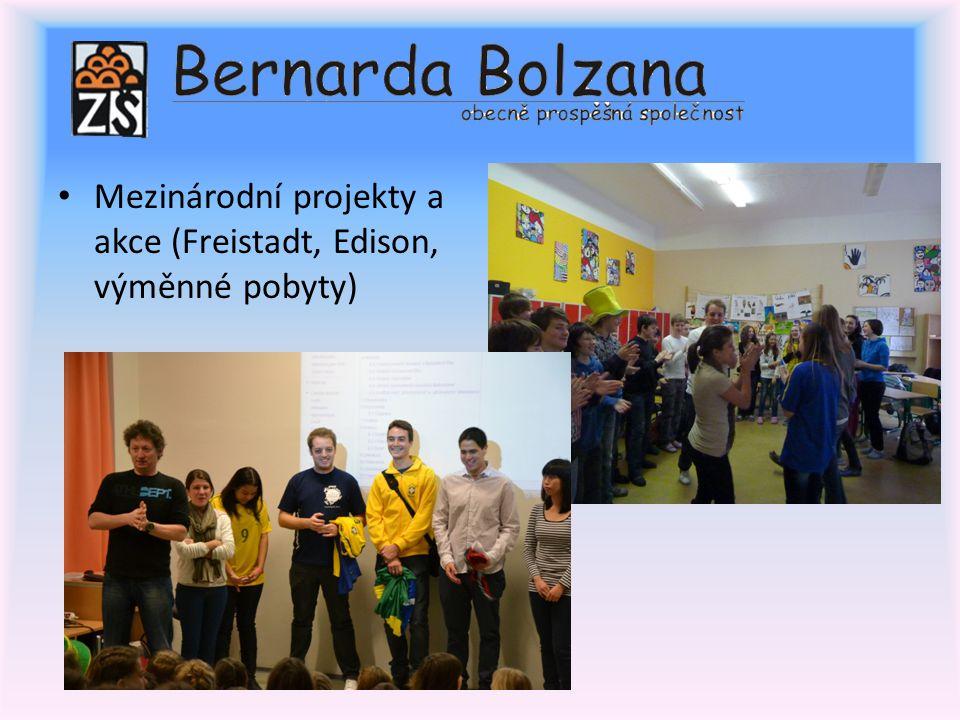 Mezinárodní projekty a akce (Freistadt, Edison, výměnné pobyty)
