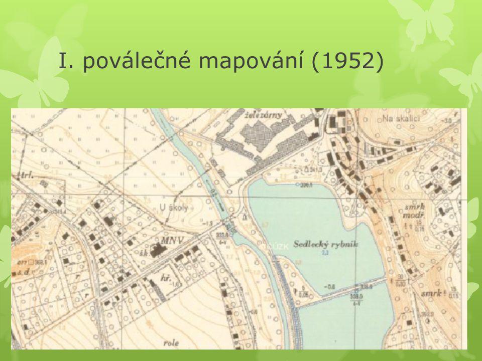 I. poválečné mapování (1952)