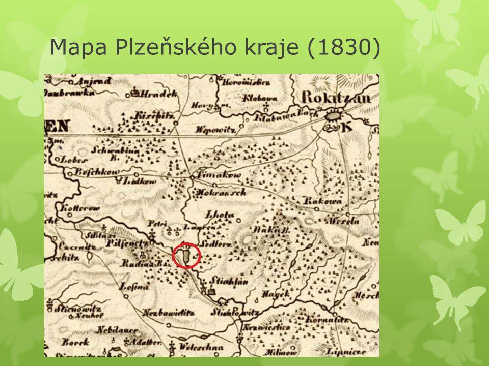 Mapa Plzeňského kraje (1830)