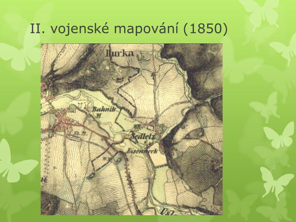 II. vojenské mapování (1850)