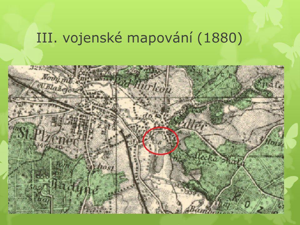 III. vojenské mapování (1880)
