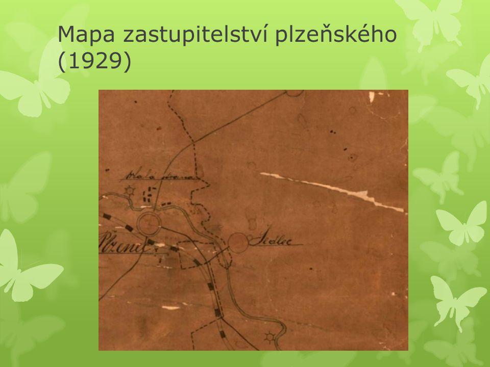 Mapa zastupitelství plzeňského (1929)