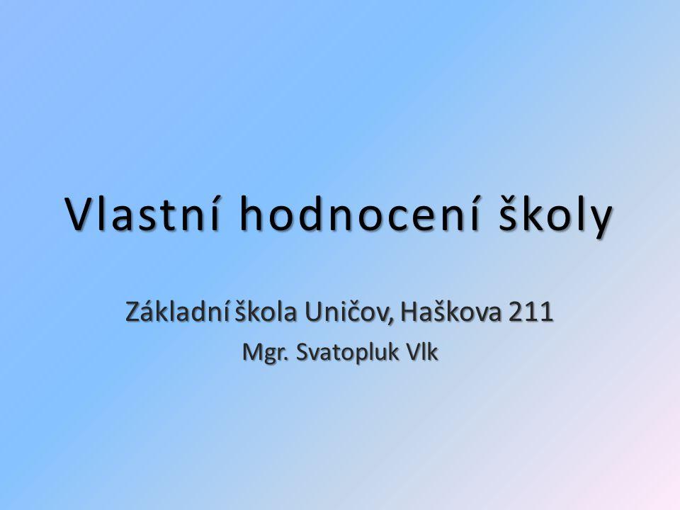 Vlastní hodnocení školy Základní škola Uničov, Haškova 211 Svatopluk Vlk Díky za pozornost