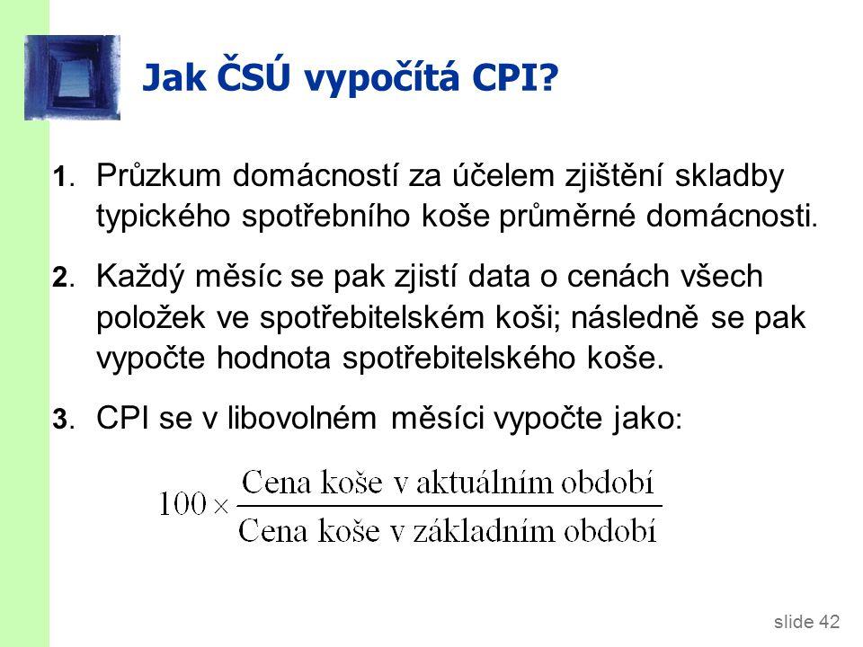 slide 42 Jak ČSÚ vypočítá CPI.1.