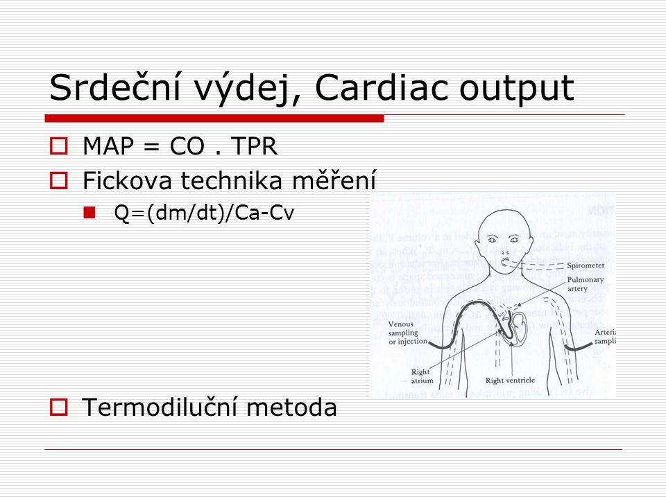 Srdeční výdej, Cardiac output  MAP = CO.