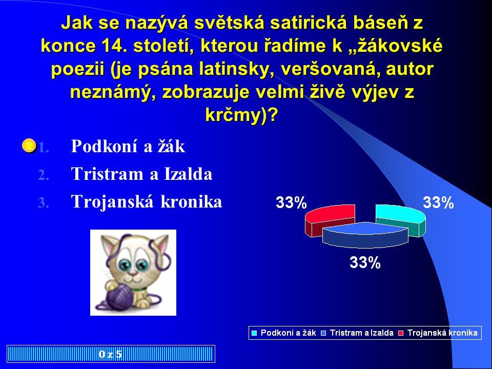 Středověká česká sociální satira je představovaná tzv.