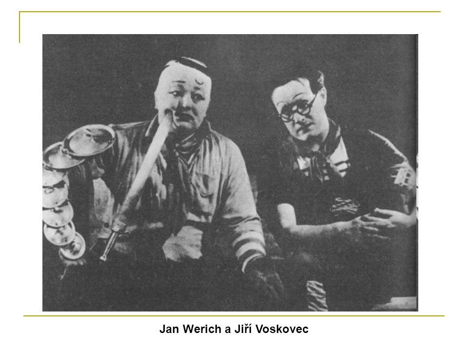 Werichova tvorba po druhé světové válce - Po únoru 1948 Werich působil především v divadle ABC - Werichovým hereckým partnerem se stal Miroslav Horníček - Hrál v řadě filmů a filmových pohádek - Z literárních počinů patří mezi nejvýznamnější kniha humoristických pohádek Fimfárum (1960)
