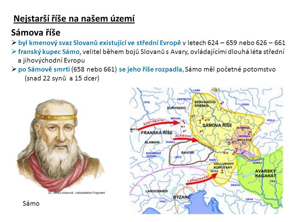 Velkomoravská říše ( latinsky Moravia Magna)  byla první známý západoslovanský stát  ve své době nejmocnější a nejsilnější ve střední Evropě  existovala převážně na území dnešního Česka, Slovenska a Maďarska (833–906/907) Rastislav Svatopluk