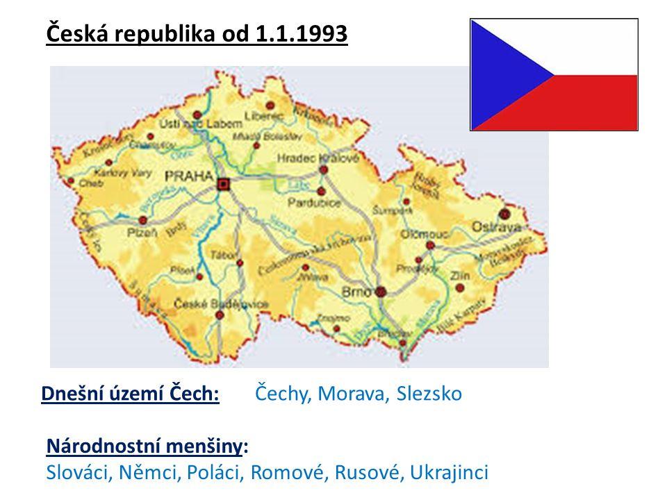 Slovensko od 1.1.1993 Národnostní menšiny: V zemi existuje silná maďarská a romská menšina Vznik názvu Slovensko a Slováci je pevně spjat s existencí uherského státu, obyvatelé dnešního Slovenska byli nazýváni Slavus či Sclavus, aby tak byli odlišeni od Chorvatů, Poláků, Čechů a dalších slovanských národů.