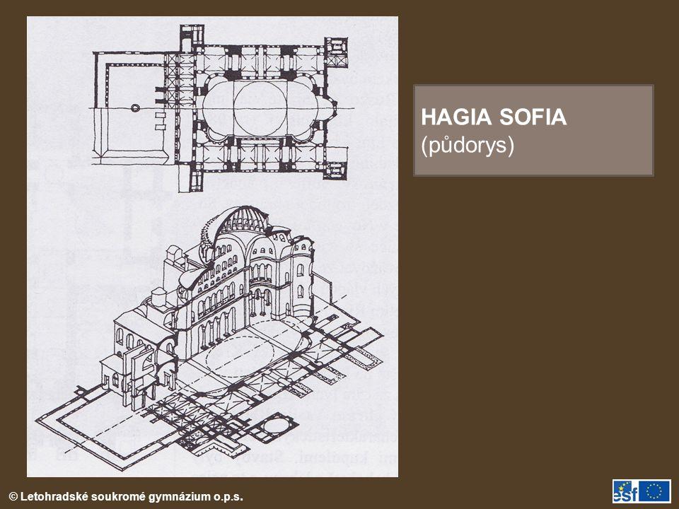 © Letohradské soukromé gymnázium o.p.s. HAGIA SOFIA (půdorys)