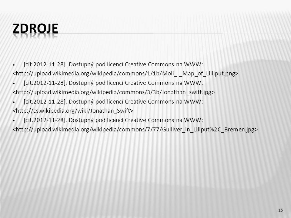 [cit.2012-11-28]. Dostupný pod licencí Creative Commons na WWW: [cit.2012-11-28]. Dostupný pod licencí Creative Commons na WWW: [cit.2012-11-28]. Dost