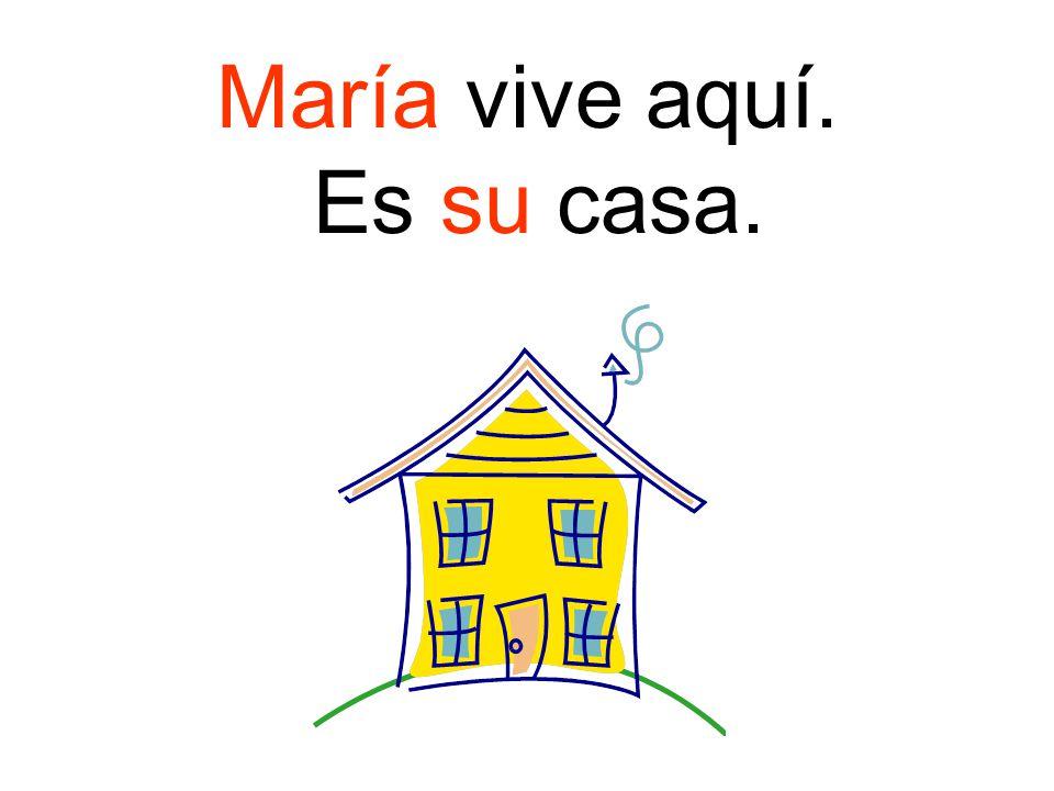 María vive aquí. Es su casa.