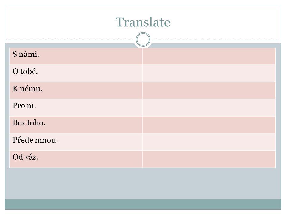 Translate Solution S námi.With us.O tobě.About you.