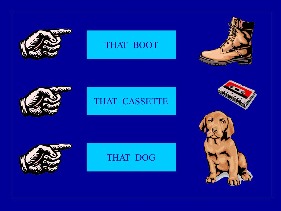 THAT BOOT THAT CASSETTE THAT DOG
