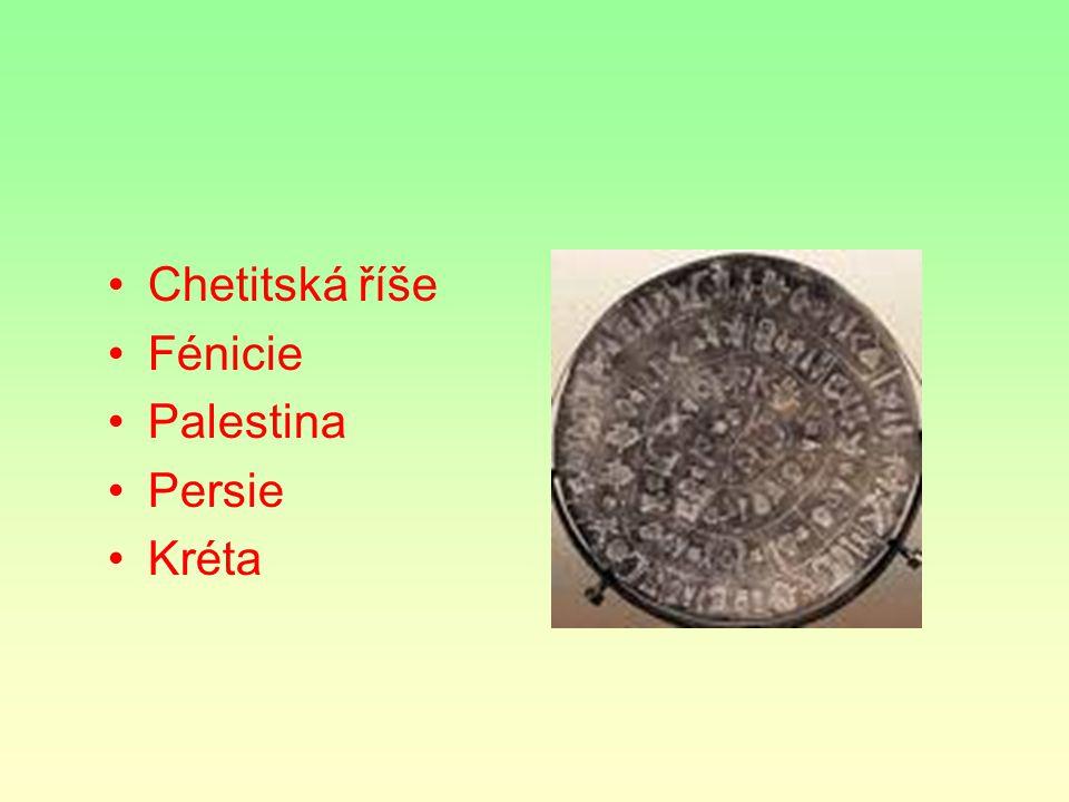 Chetitská říše Fénicie Palestina Persie Kréta