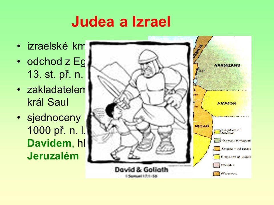 Judea a Izrael izraelské kmeny odchod z Egypta asi ve 13.