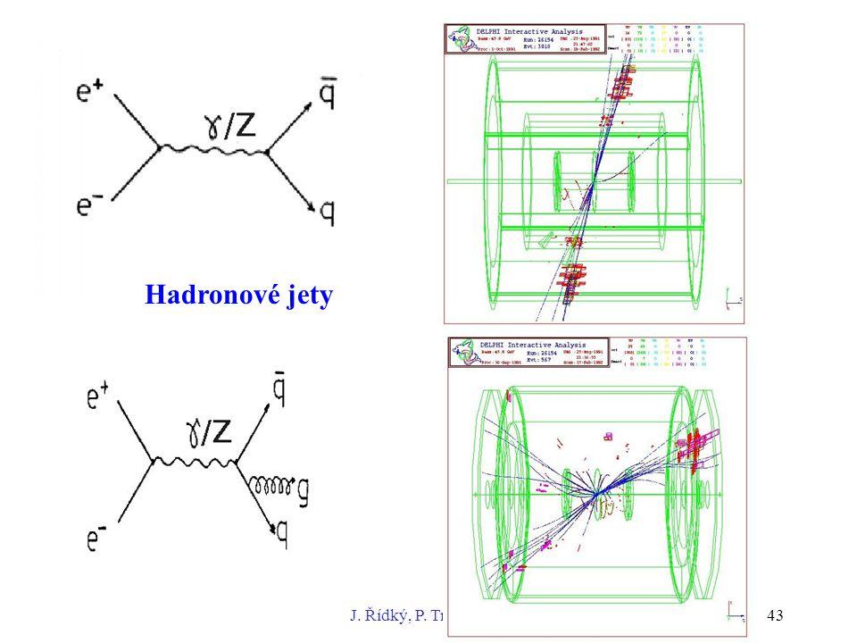 Úvod do fyziky vysokých energií J. Řídký, P. Trávníček, FZÚ AV ČR43 Hadronové jety