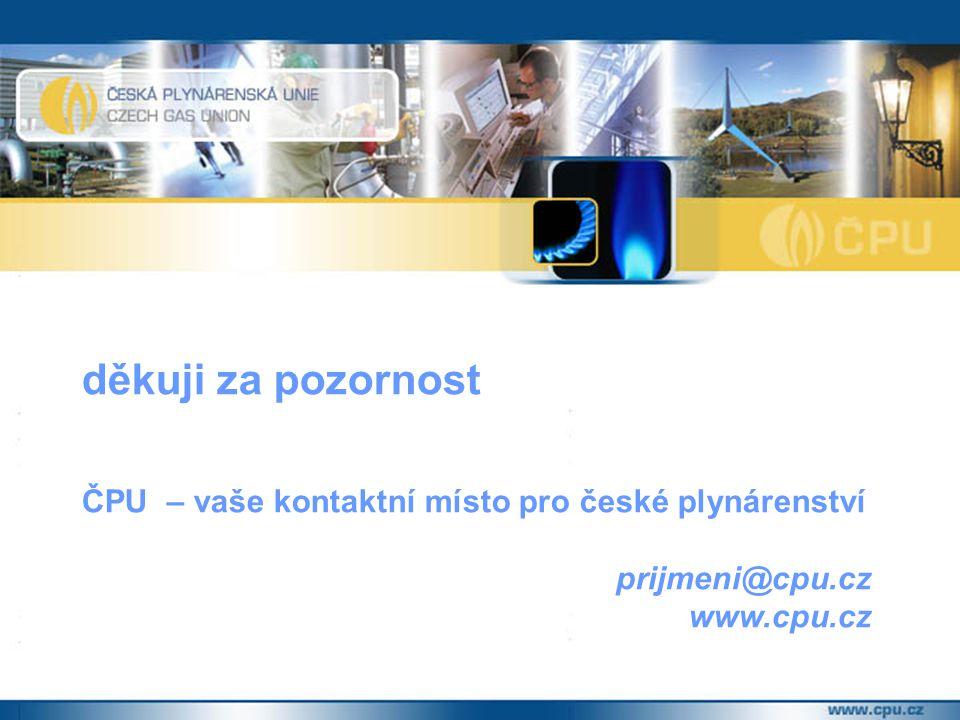 děkuji za pozornost ČPU – vaše kontaktní místo pro české plynárenství prijmeni@cpu.cz www.cpu.cz