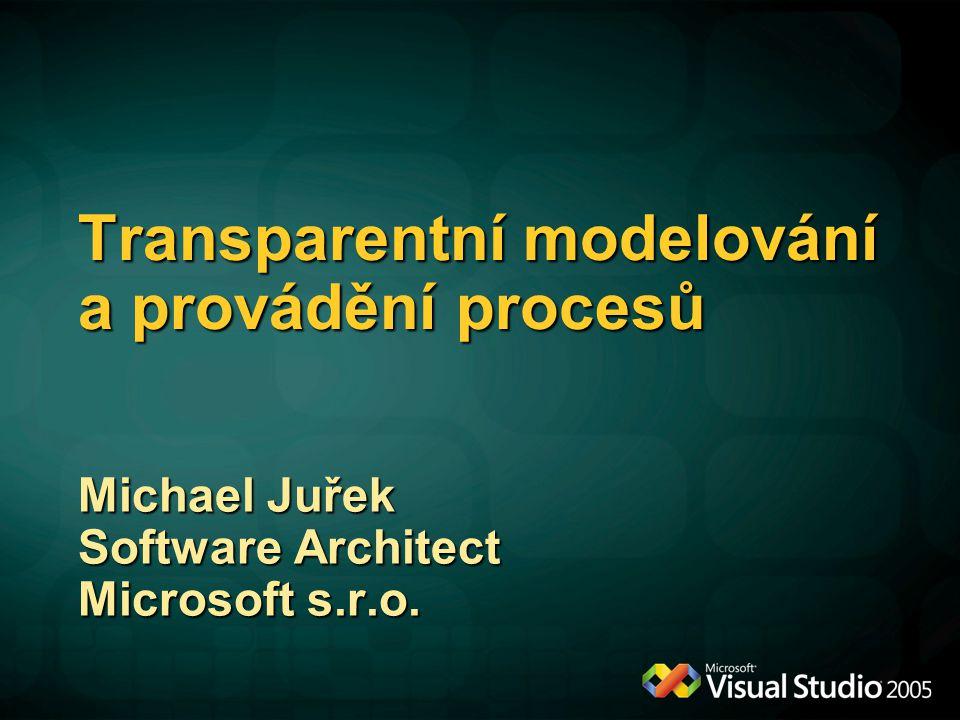 Transparentní modelování a provádění procesů Michael Juřek Software Architect Microsoft s.r.o.