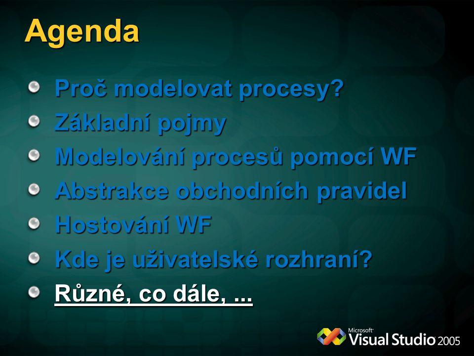 Agenda Proč modelovat procesy.