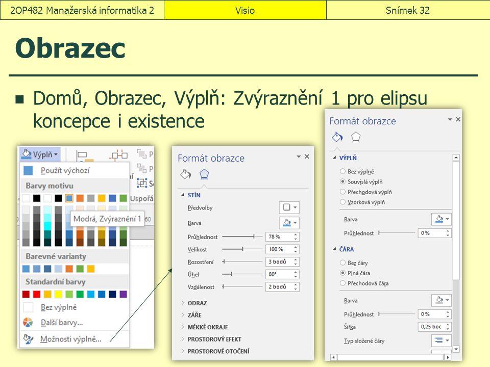 Obrazec Domů, Obrazec, Výplň: Zvýraznění 1 pro elipsu koncepce i existence VisioSnímek 322OP482 Manažerská informatika 2