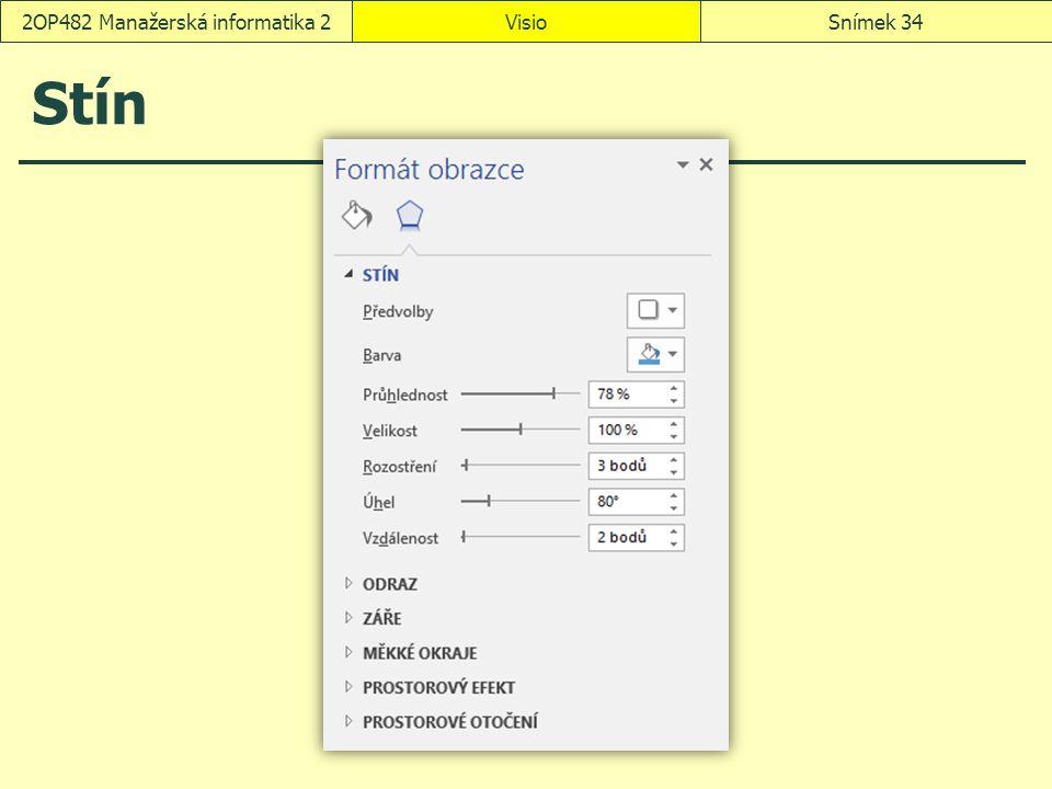 Stín VisioSnímek 342OP482 Manažerská informatika 2