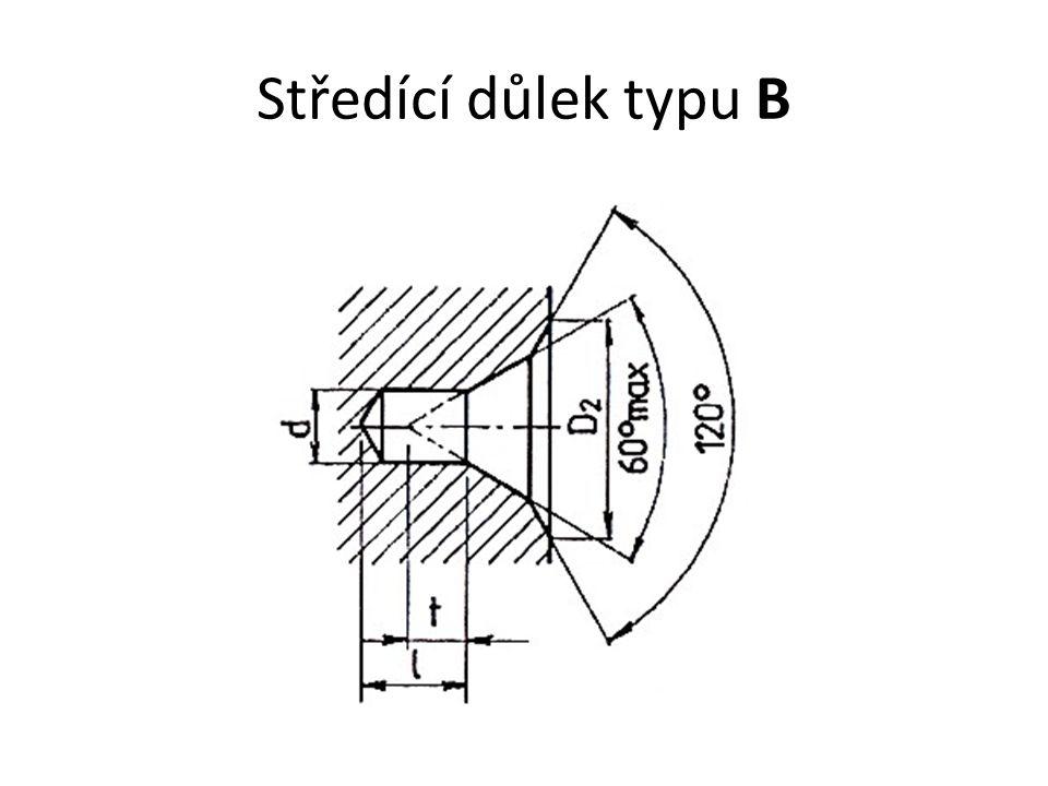 Středící důlek typu B