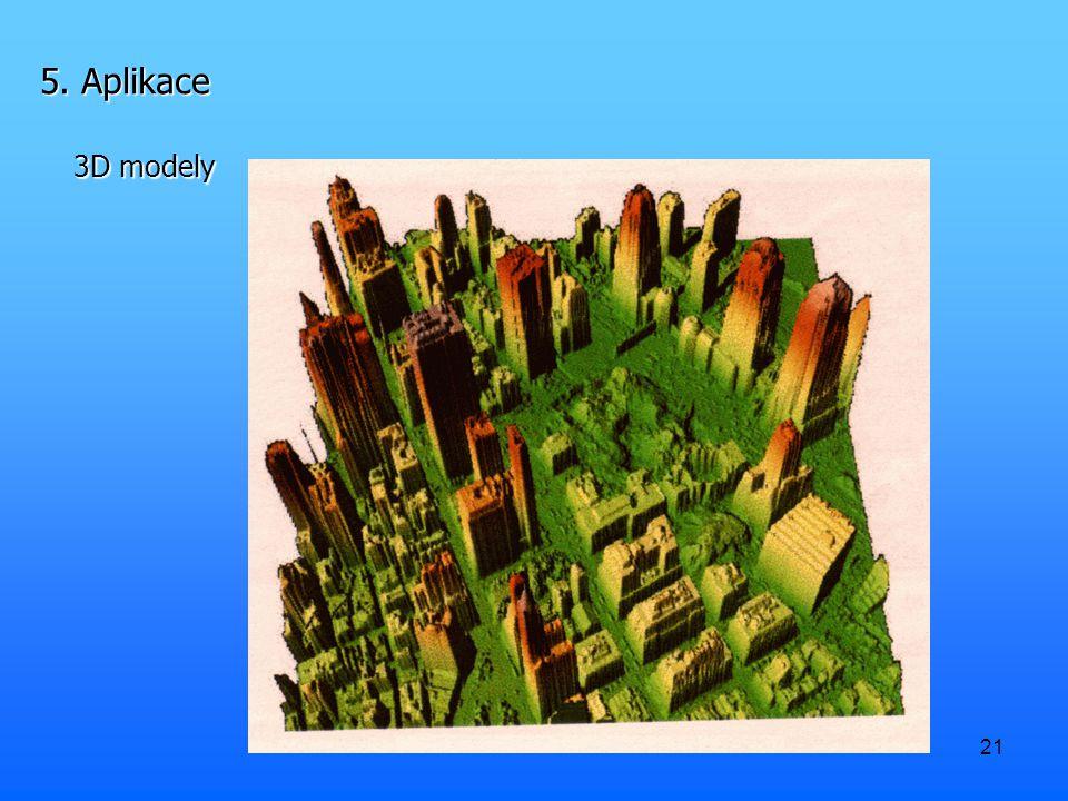 21 5. Aplikace 3D modely