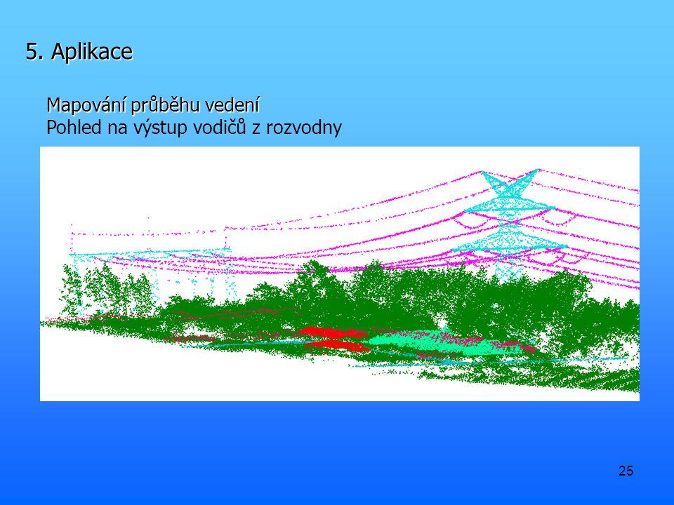25 5. Aplikace Mapování průběhu vedení Pohled na výstup vodičů z rozvodny