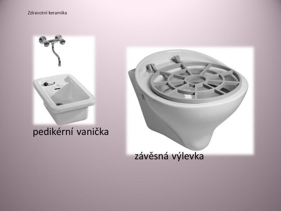 Zdravotní keramika pedikérní vanička závěsná výlevka