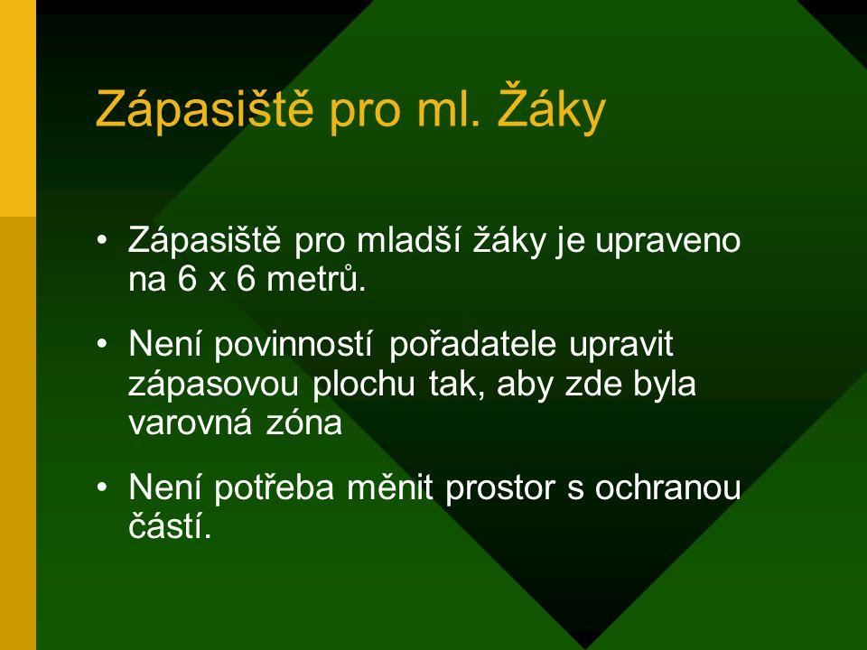 Zápasiště pro ml. Žáky Zápasiště pro mladší žáky je upraveno na 6 x 6 metrů.