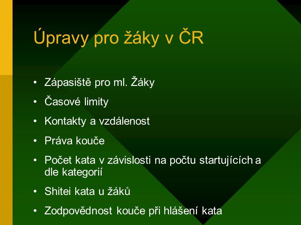 Úpravy pro žáky v ČR Zápasiště pro ml.
