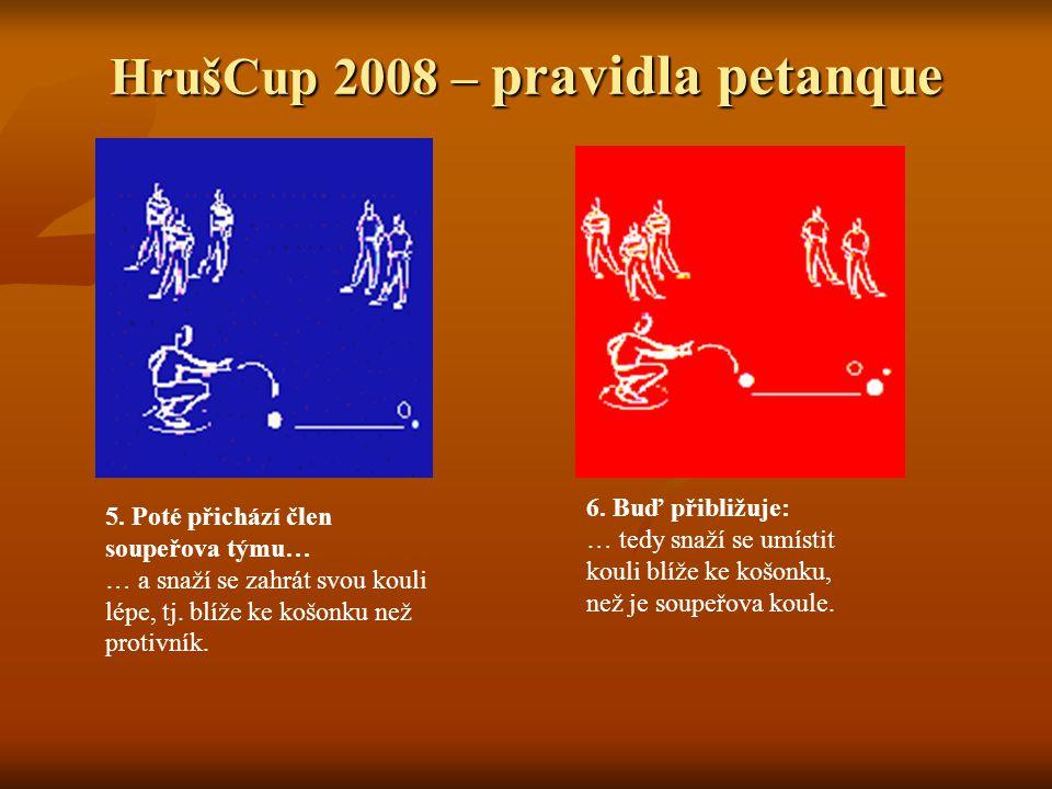 HrušCup 2008 – pravidla petanque 7.Nebo vyráží: … tzn.