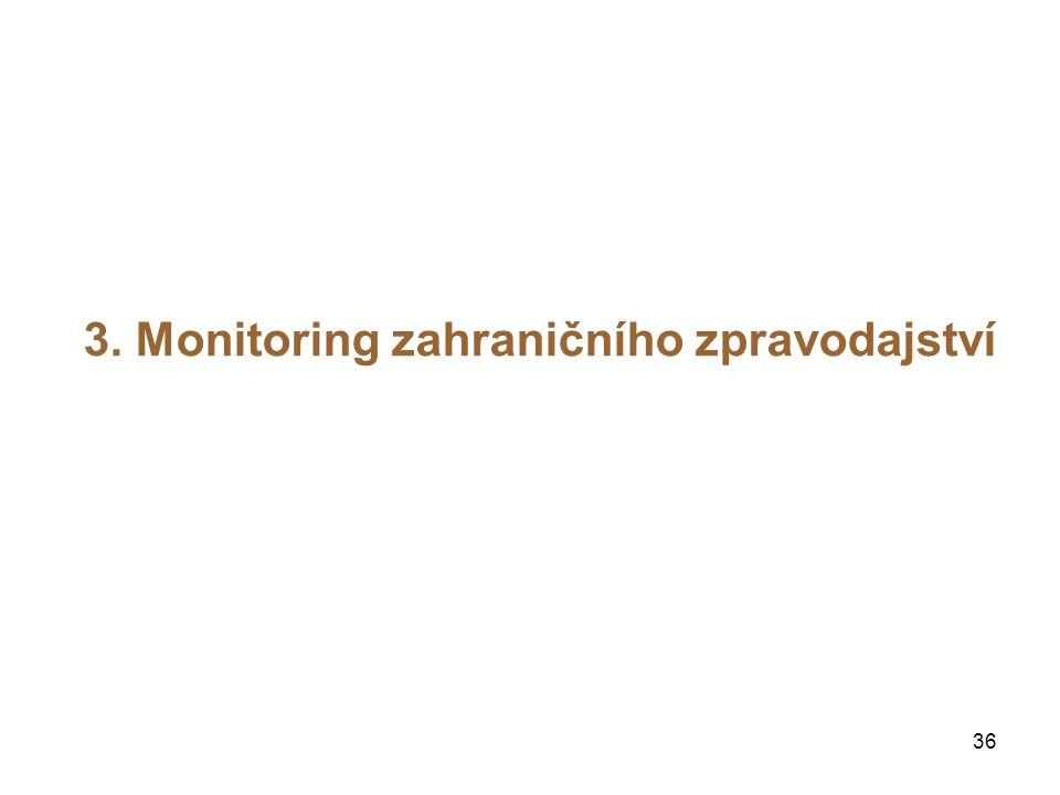 36 3. Monitoring zahraničního zpravodajství