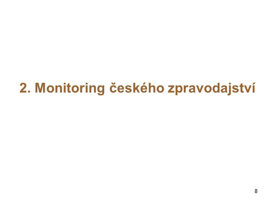 8 2. Monitoring českého zpravodajství